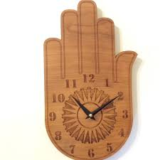 buddha u0027s hand wall clock wood wall clock wood clock wall clock