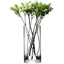 Lsa Vases Lsa Column Vase Candleholder Height 36cm At Black By Design Co Uk
