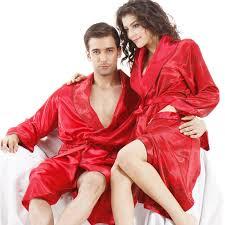 robe de chambre homme satin couples peignoir vêtements de nuit en satin de soie robe pour
