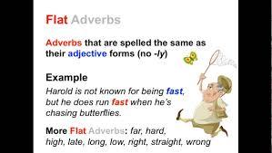 irregular adverbs parts of speech app youtube