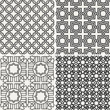 abstract modern backgrounds set geometric seamless patterns
