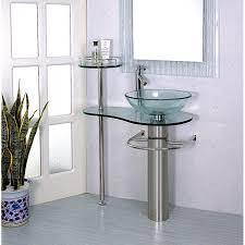 28 Bathroom Vanity With Sink Inch Wall Mounted Single Chrome Metal Pedestal Bathroom Vanity
