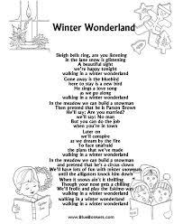 printable lyrics bluebonkers winter wonderland free printable christmas carol