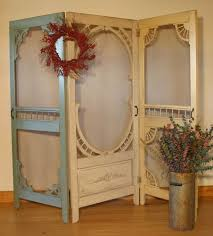 Vintage Room Divider by Hand Made Denise U0027s Screen Door Room Divider By Country Woods