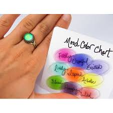 outtasight sterling silver mood ring right mood ring antique brass with color chart rings carolyn jane jewelry
