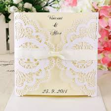 Invitation Card Cover Wedding Invitations Invite Lace Laser Cut Out Effect Blank Cards W