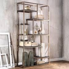 furniture of america nara contemporary 6 shelf tiered open