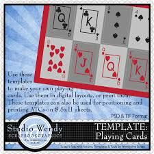 Playing Card Design Template Scrapbookgraphics Digital Scrapbooking Designs And Kits