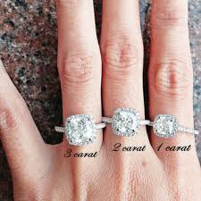 promise ring vs engagement ring inspired 3 ct cushion cut halo from fairyparadise on etsy