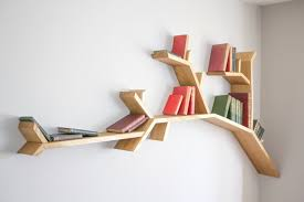 the medium size for the newest style branch bookshelf from teak