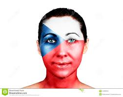 Czech Flag Face With The Czech Republic Flag Stock Image Image 34990619