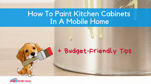 can mobile home kitchen cabinets be painted how to paint kitchen cabinets in a mobile home budget