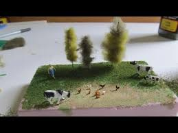 how to make miniature trees for dioramas or railroads