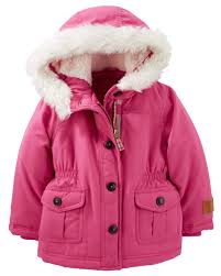faux fur trim parka carters