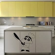 japanese kitchen cabinet japanese cartoon vinyl wall sticker crayon shin chan sticker on