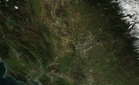 California rivers images California rivers so swollen the impact is seen from space gif