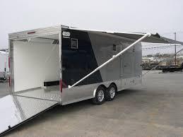 enclosed trailer exterior lights carmate 8 5 x 20 enclosed car trailer 2 tone black silver