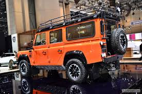 land rover defender 2015 black land rover defender adventure edition live geneva 2015 05 images