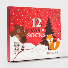 s forest animal 12 days of socks set size 9 11 target