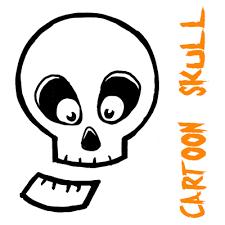 draw silly cartoon skulls halloween easy tutorial