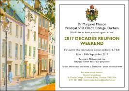 Reunion Invitation Card Alumni Events Upcoming Archives St Chad U0027s College Durham