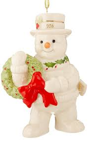 lenox 2016 happy days snowman ornament home