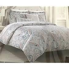 amazon com tahari bedding duvet cover set king 3 pc set paisley