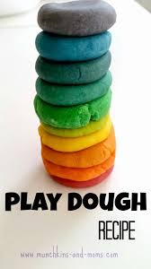 homemade play dough recipe with a coloring guide munchkins and