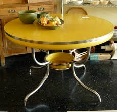 retro yellow kitchen table yellow formica table what s the dish for slipping some food under