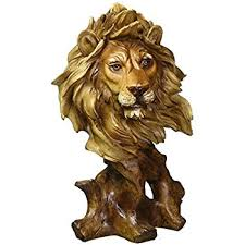 lion figurine lion bust collectible figurine home kitchen