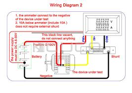 digital voltmeter ammeter dc 0 100v 10a voltage current meter