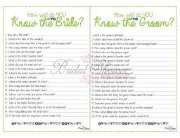 bridal shower question bridal shower questions for groom questions to ask for a bridal