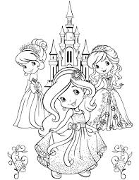 strawberry shortcake characters coloring pages u2014 allmadecine