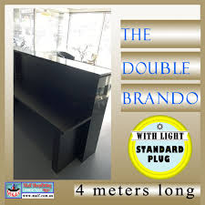 Black Reception Desk Long Reception Desk The Double Brando Reception Counters