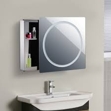 small waterproof sliding door bathroom vanity mirror cabinet 7094