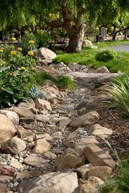 Cool Backyard Landscaping Ideas Dry Creek Bed Idea Works Like A Charm To Catch The Water From