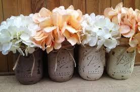 pint painted mason jars vintage rustic home decor wedding