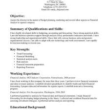 financial planning and analysis resume examples resume template for financial analyst fred resumes