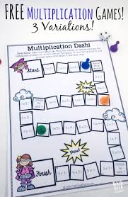 easy low prep printable multiplication games free