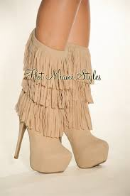 s boots with fringe faux suede fringe high heel boots