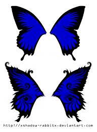 blue butterfly wings by xshadow rabbitx on deviantart