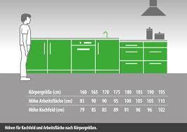 küche arbeitshöhe arbeitsplattenhöhen dross küchen