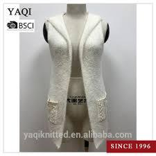 women u0027s sleeveless knit hooded cardigan pattern knitted sweater