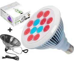 led grow light bulb with free clamp reflector by proledgrow u2013 12