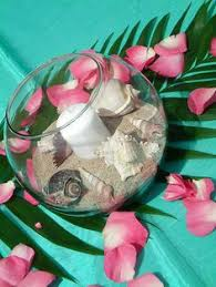 Seashell Centerpiece Ideas by White Anthurium With Some Turquoise Shells Party