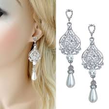 chandelier wedding earrings chandelier pearl drop bridal earrings dangling wedding earrings
