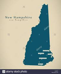 map usa new hshire modern map new hshire usa federal state illustration