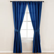 Blue Window Curtains Buy Navy Blue Curtains Window Treatments From Bed Bath Beyond