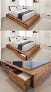 Platform Bed With Shelves Plans by Twin Platform Bed With Drawers Amazoncom Merax Twin Size Platform