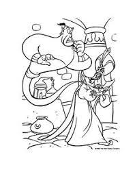 aladdin genie friends coloring disney